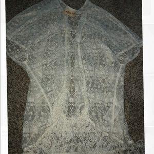 Hollister lace cardigan!